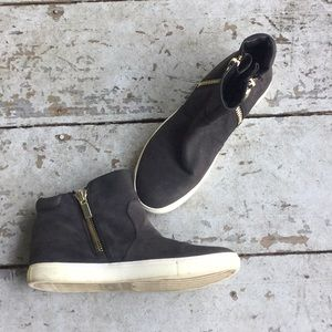 Kennet Cole New York Black Leather High Top Shoes